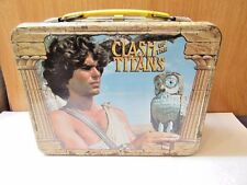 VINTAGE 1980 CLASH OF THE TITAN'S METAL LUNCHBOX KING SEELEY MOVIE
