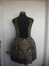 Dolce & Gabbana Damask Black & Gold Sz 40 Dress
