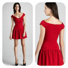 Black Halo Red Cap Sleeves Mini Dress Sold Out Size 2  NWT