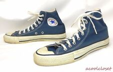 VINTAGE SHOES 70's 80's Converse All Star CHUCK TAYLOR High Top USA BLUE 7