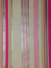 Wallpaper Designer Stripe Khaki Tan Copper Gold Red