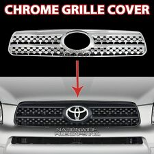 fits 06 07 08 Toyota RAV4 CHROME Snap On Grille Overlay Front Grill Cover Insert