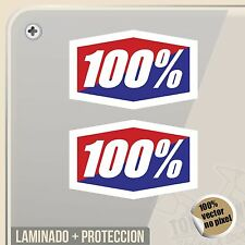 PEGATINA RIDE 100 PERCENT  MOTOCROSS SUPERCROSS  STICKER AUFKLEBER AUTOCOLLANT