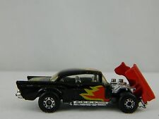 Matchbox Vintage 1979 Black & Red #4 57 Chevy Super Fast Diecast Car