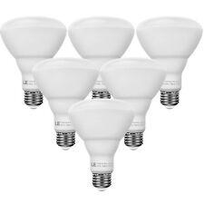 6 Pack LED Light Bulb BR30 100 Watt Equivalent Warm White 2700K Flood Recessed