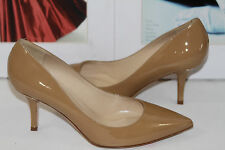 NEW!! KATE SPADE JESS CAMEL PATENT LEATHER POINTED TOE PUMP   SZ 6.5   MSRP$298