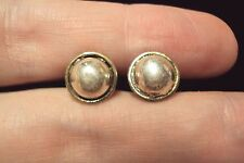smooth shiny dome ball circle round 925 sterling silver stud earrings Mexico
