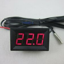 Red LED DC 12V Digital Thermometer +Waterproof Sensor Probe -50~110C Temperature