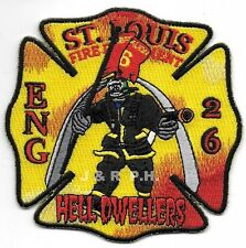 """St. Louis  Engine - 26  """"Hell Dwellers"""", MO  (4"""" x 4"""" size) fire patch"""