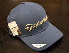 TaylorMade Golf Casual Relaxed Fit Adjustable Hat Baseball Cap Blue Khaki NEW