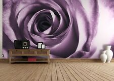 WALLPAPER MURAL PHOTO Purple rose WALL DECOR PAPER GIANT POSTER Flower ideas