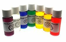 SET OF SEVEN CHAKRA OILS healing wicca spell reiki