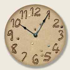 BEACH PEBBLE Wall CLOCK - Beach Sand Numbers - Beach Decor - 7115