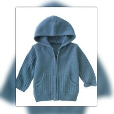 NWT 2T Gymboree ROCK ON Blue 100% COTTON HOODED SWEATER CARDIGAN HOODIE. . .RARE