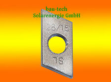 10 Gewindeplatten M8 Edelstahl A2 / Sliding nut for Solar Photovoltaic Profile