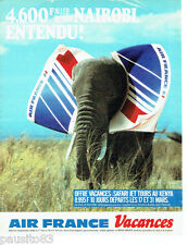 PUBLICITE ADVERTISING 016  1985  Air France vacances Niarobi kenya