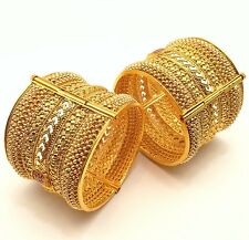 Indian Polki Bangles Size:2.6 Asian Bollywood Bridal Jewellery Party Ethnic Wear