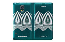 NEW GENUINE SAMSUNG GALAXY S5 SM-G900F FLIP WALLET CASE GREEN NICHOLAS KIRKWOOD
