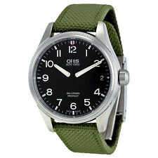 Oris Big Crown Pro Pilot Date Black Dial Mens Fabric Strap Watch 75176974164FS
