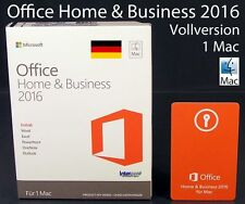 Microsoft Office Home & Business 2016 Vollversion Box 1 Mac Deutsch OVP NEU