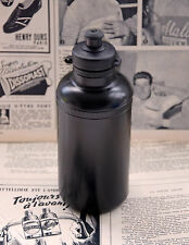 NOS Vintage Black Plastic Bicycle Water Bottle Retro L'Eroica Cycling Bidon