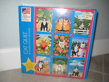 CAT QUILT by Brownd Great American Jigsaw Puzzle 1000 pieces #8056; 20x27; 1997