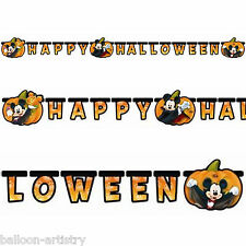 HAPPY HALLOWEEN Disney Mickey Mouse Party Intagliato Lettera Banner Decorazione