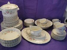 W.S. George Pink Roses Pattern 59 Piece Set  in Good Condition Bolero Style