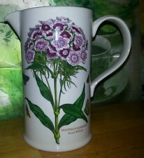 "PORTMEIRION STOKE ON TRENT SWEET WILLIAM FLORAL PITCHER BUTTERFLIES GC 6 7/8""BIG"