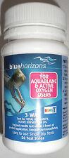Orizzonti BLU Aquablanc ossigeno attivo dell' acqua 3 VIE strisce per test