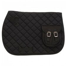 Equiroyal Black Contoured English Pocket Pad horse tack equine 30-995