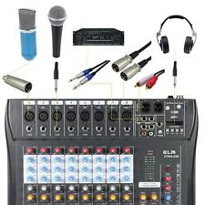In USA CT80S-USB 8 Channel Live Studio Audio Mixer Mixing Console Phantom Power