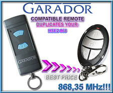 Garador HSE2 868.3Mhz Compatible Remote transmitter, clone, replacement key fob