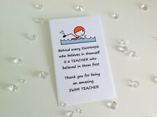 Personalised Swimming Teacher School Forget Me Not Seeds Leaving Gift Present