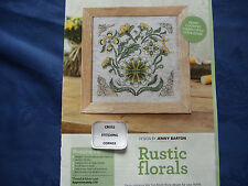 COUNTRY CHARM RUSTIC FLORALS INSPIRED BY FOLK ART PAINTINGS CROSS STITCH CHART