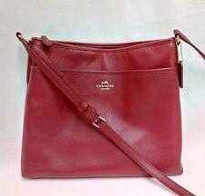 COACH Red Pebbled Leather Crossbody / Swingpack Shoulder Bag