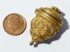 Antique 19thC French Gilt Rococo Etui Fob Chatelaine Thimble Tool Holder