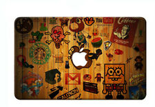 "Colorful Wood Painted Laptop Hard Case Cover for Macbook Pro 13 ""15 Air 11"" 12 """