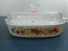 CORNING WARE Le Romarin Spice of Life  A-10   9 3/4 x 9 3/4 x2   WITH DOME LID