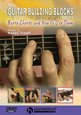 Happy Traum Barre Chords & How To Use Them Guitar DVD NEW!