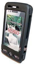 Crystal CASE COVER GUSCIO per cellulare in nero per Samsung m8800 Pixon