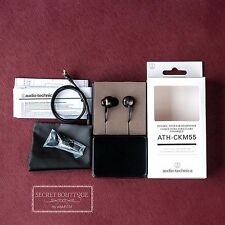 Audio Technica ATH CKM55  (Black)  Dynamic  Headphones Earphones Headset