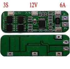 3S 12V 6A Li-ion Lithium Battery 11.1V 12.6V 18650 Charger Protection Board