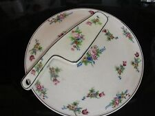 """VINTAGE  9 """"CAKE PLATE WITH CAKE CUTTER  1930 JAPAN"""