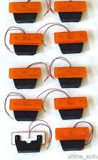 10 pcs 12v LED amber orange side marker light lamp indicator truck trailer van