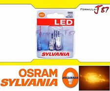 Sylvania Premium Led Amber Orange 194A 194 168 2825 T10 Two Bulbs Upgrade Light