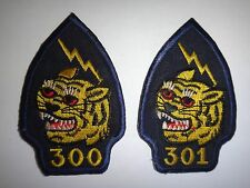 Lot Of 2 Vietnam War ARVN Special Forces CIDG Patches: Company 300 + Company 301