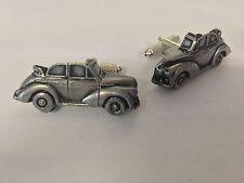 Morris Minor Convertible 3D cufflinks classic car pewter effect cufflinks ref159