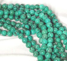 """3 Strands Set of  10mm Blue Turquoise Round Beads 15.5"""" Strand S1"""