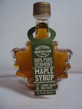 "BUTTERNUT MOUNTAIN FARM ""100% PURE VERMONT MAPLE SYRUP"" 1.7 fl oz / 50ml NEW"